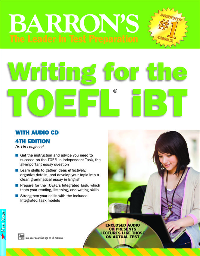 BARRON'S WRITING FOR THE TOEFL IBT 4TH (Kèm CD)