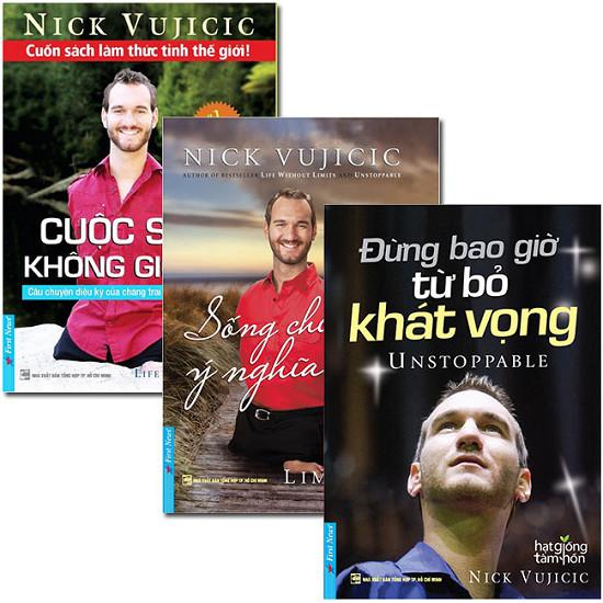 Combo Nick Vujicic (3 Quyển - Tặng Kèm CD)