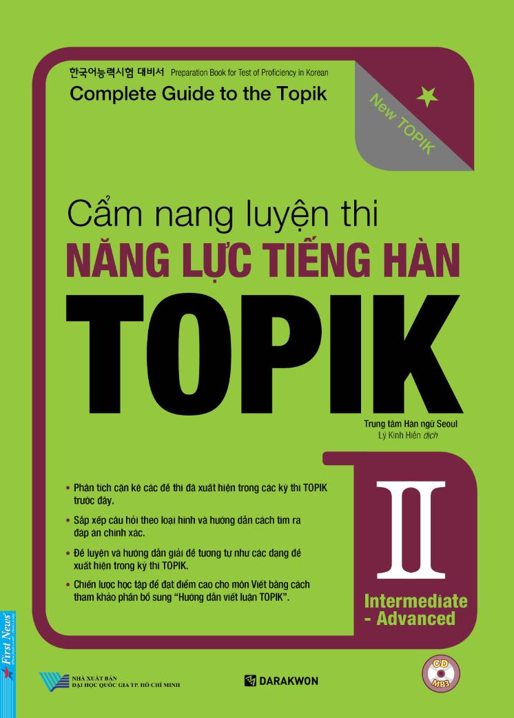 Cẩm nang luyện thi Năng lực tiếng Hàn TOPIK II