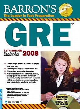 BARRON'S GRE 2008 WITH CD-ROM, 17TH EDITION