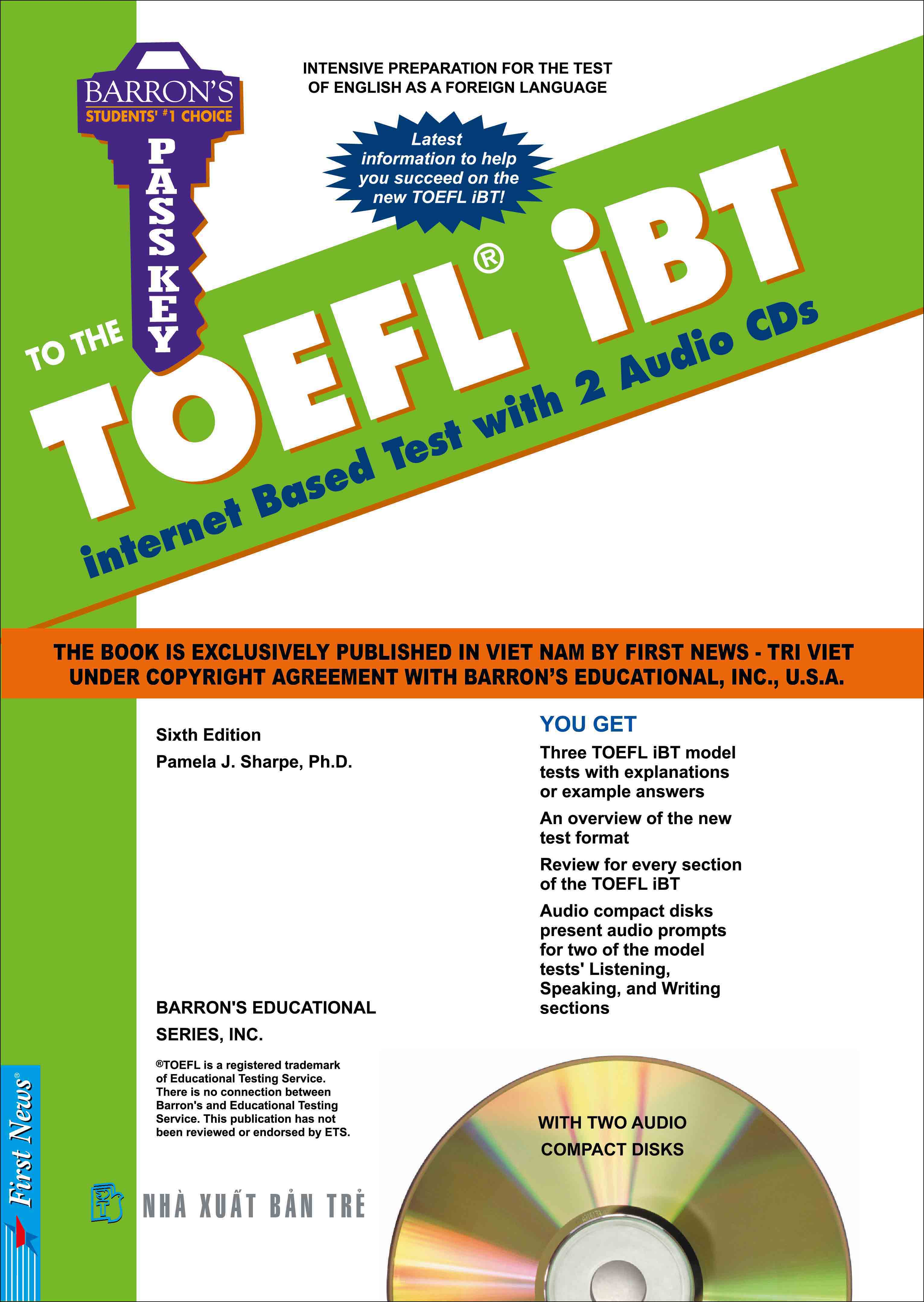 BARRON'S PASSKEY TO THE TOEFL IBT (Sách + 2 CD)