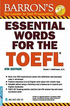 ESSENTIAL WORDS FOR THE TOEFL, 4TH EDITION